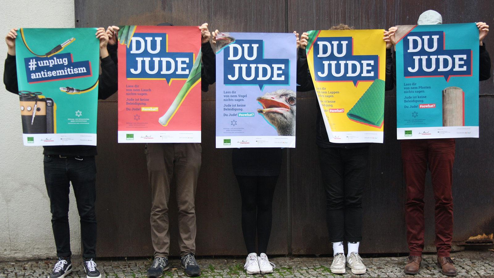 """Poster-Kampagne """"Du Jude! #sowhat?"""""""