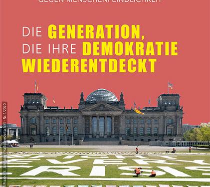 """Die neue Ausgabe der Zeitschrift """"Demokratie gegen Menschenfeindlichkeit"""""""