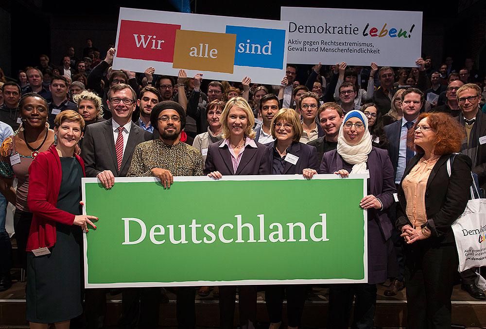 Demokratie leben! Gruppenbild