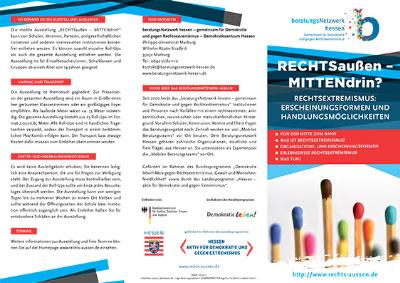 Flyer Ausstellung RECHTSaußen