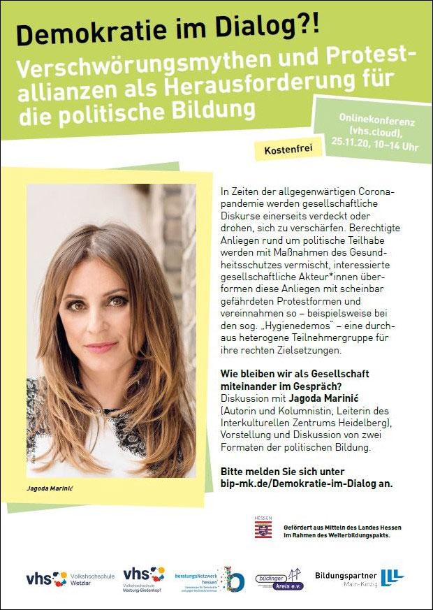 """Cover der Online-Tagung """"Demokratie im Dialog?!"""""""