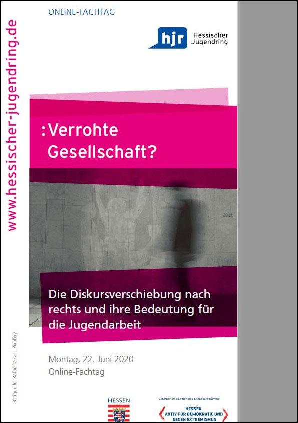 """hjr-Online-Fachtag """"Diskursverschiebung nach rechts und ihre Bedeutung für die Jugendarbeit"""" am Montag, 22. Juni 2020"""