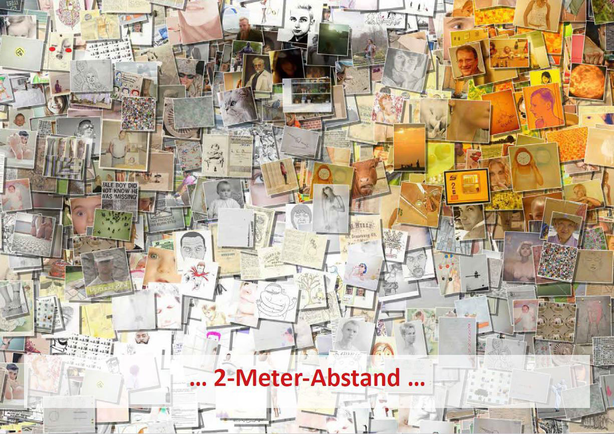 """Flyer-Cover der Aktion """"2-Meter-Abstand"""" der Regionalstelle Süd des Beratungsnetzwerks Hessen"""