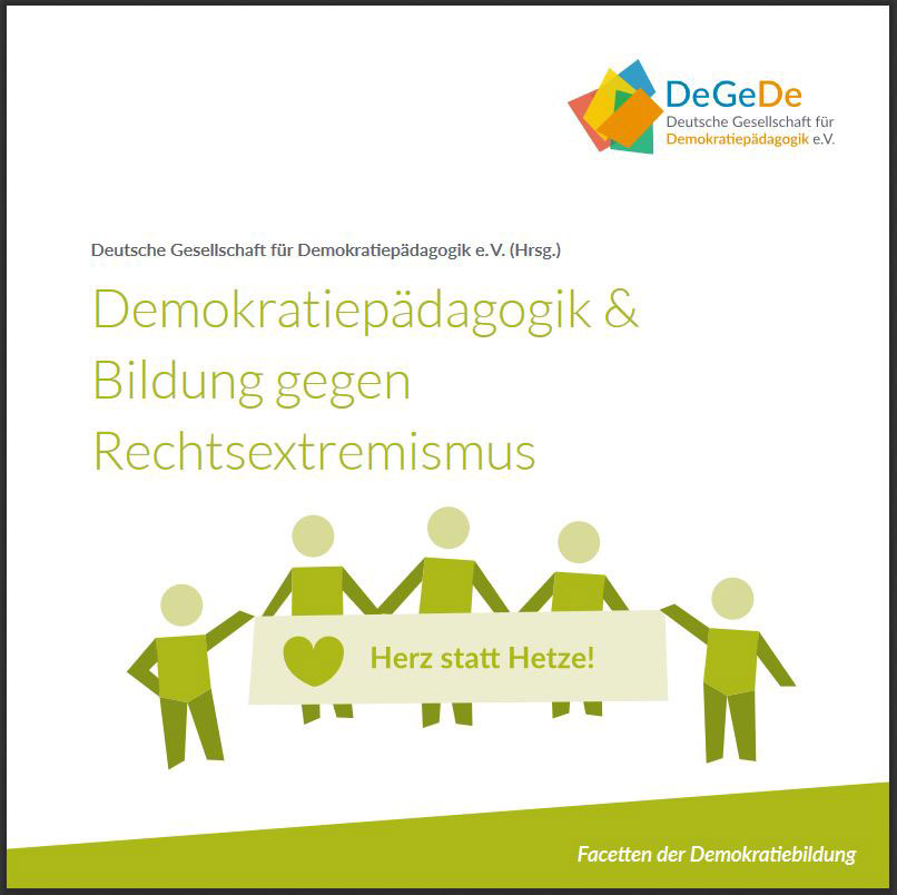 "Cover des Flyers ""Demokratiepädagogik & Bildung gegen Rechtsextremismus"""