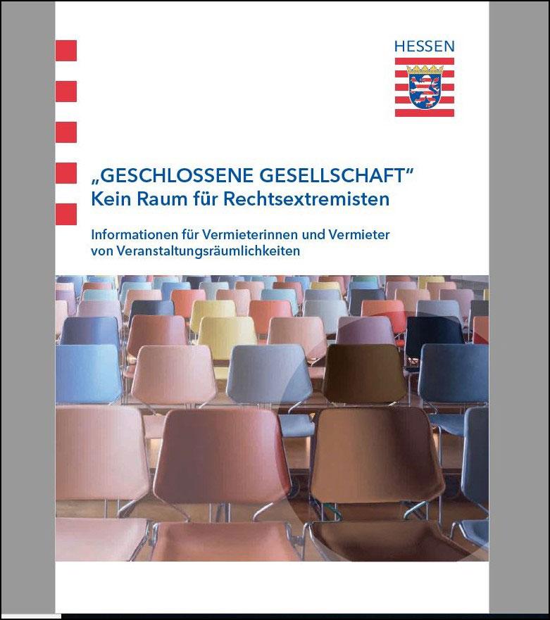Cover der neuen hessischen Gastrobrüschüre gegen rechts