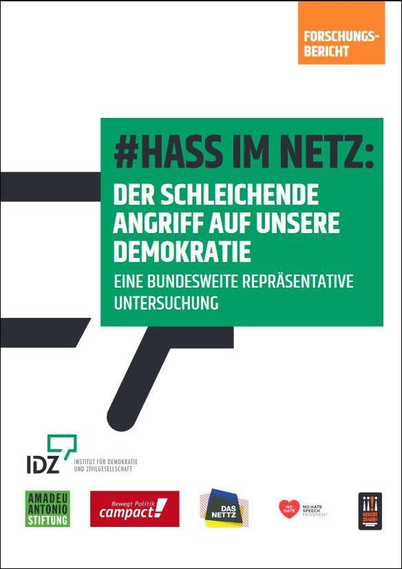 """Cover der neuen Studie """"Hass im Netz: Der schleichende Angriff auf unsere Demokratie"""""""