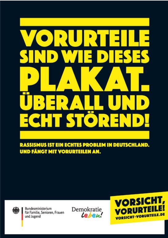 """Eines der Kampagnen-Plakate von """"Vorsicht Vorurteile!"""""""