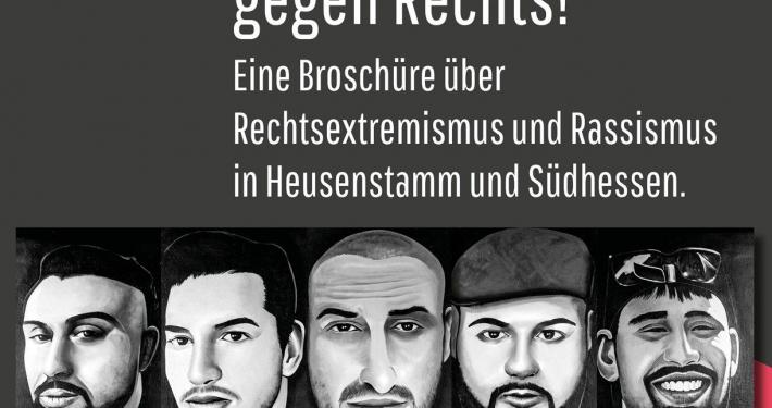 """Cover der Broschüre """"Heusenstamm aktiv gegen Rechts. Broschüre über Rassismus und Rechtsextremismus in Heusenstamm und Südhessen"""""""