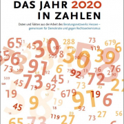 """Cover des DIN-A-4-Faltblatts """"Das Jahr 2020 in Zahlen"""""""