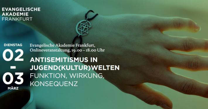 Anfang März: Online-Tagung der Ev. Akademie und des Demokratiezenrtums zu Antisemitismus