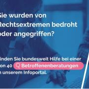 """Werbebild für das neue Online-Suchportal """"Rechtsextremismusprävention"""""""