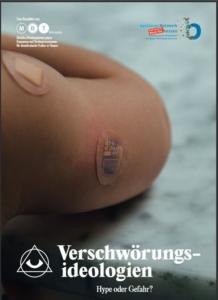 "Cover der neuen MBT-Broschüre ""Verschwörungsideologien – Hype oder Gefahr?"""